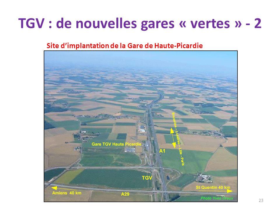 TGV : de nouvelles gares « vertes » - 2 23 Site dimplantation de la Gare de Haute-Picardie