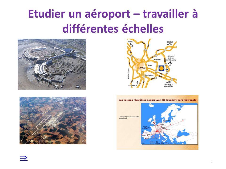 Locale : décrire un aéroport 6 Gare TGV Terminaux – zones dembarquement Parkings Vers les pistes denvol Identifier les lieux par leur fonction géographique : retrouver les unités composant ce paysage