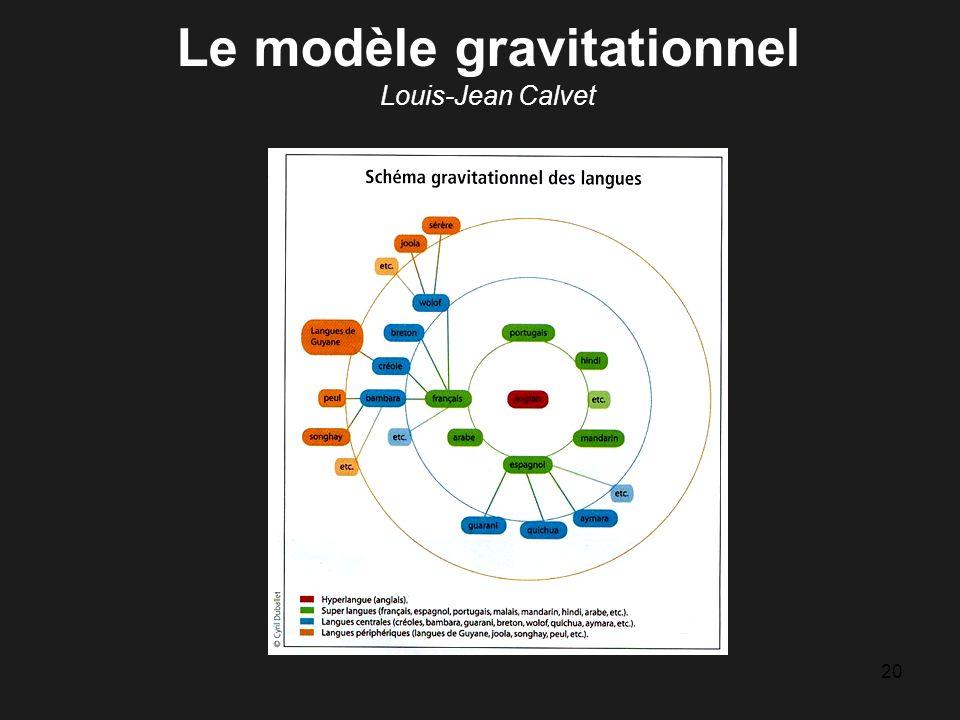 20 Le modèle gravitationnel Louis-Jean Calvet