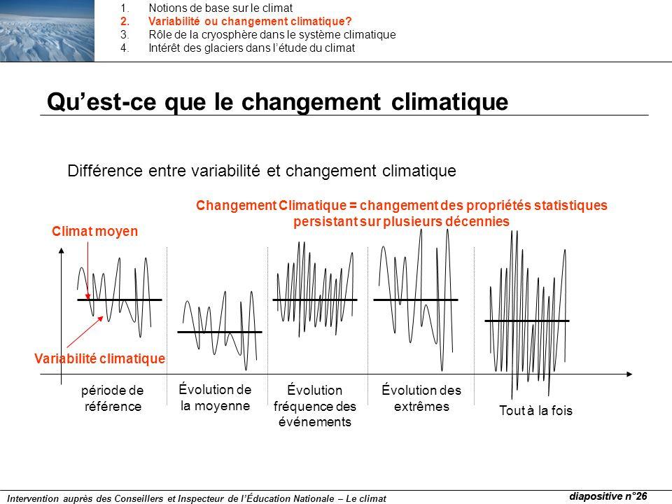 Quest-ce que le changement climatique Différence entre variabilité et changement climatique période de référence Variabilité climatique Climat moyen É