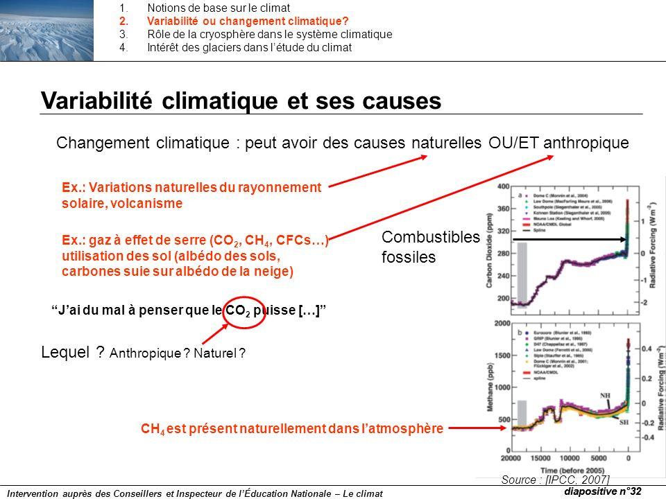 Source : [IPCC, 2007] Jai du mal à penser que le CO 2 puisse […] Lequel ? Anthropique ? Naturel ? Changement climatique : peut avoir des causes nature