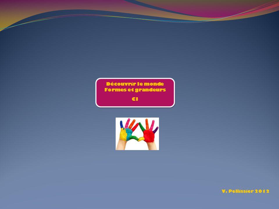 Découvrir le monde Formes et grandeurs CI Découvrir le monde Formes et grandeurs CI V. Pellissier 2012