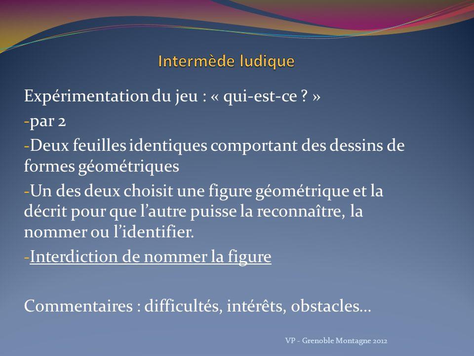 Proposition de progression… VP - Grenoble Montagne 2012