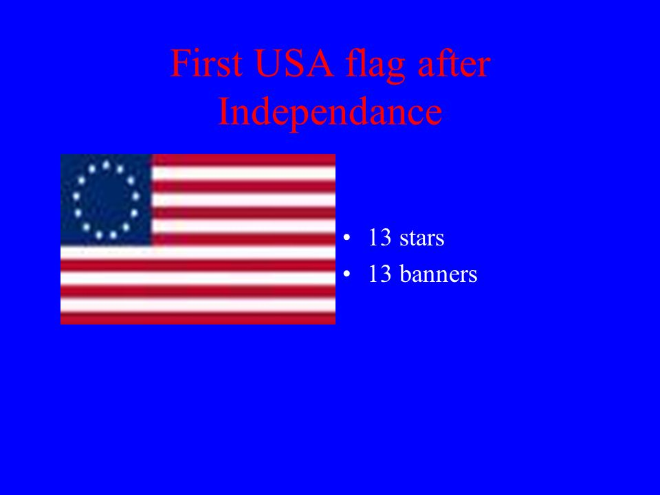 First USA flag after Independance 13 stars 13 banners