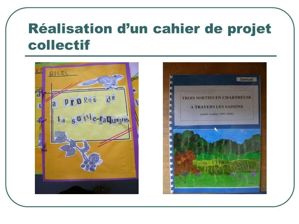 Réalisation dun cahier de projet collectif