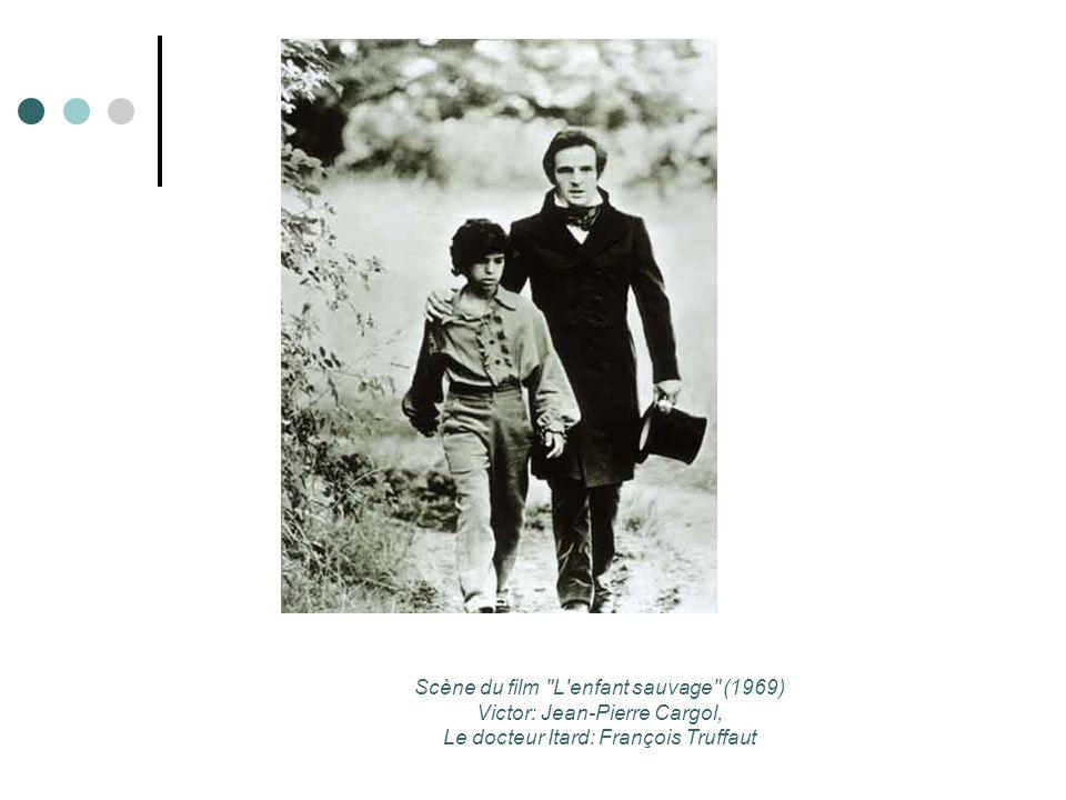 Scène du film L enfant sauvage (1969) Victor: Jean-Pierre Cargol, Le docteur Itard: François Truffaut