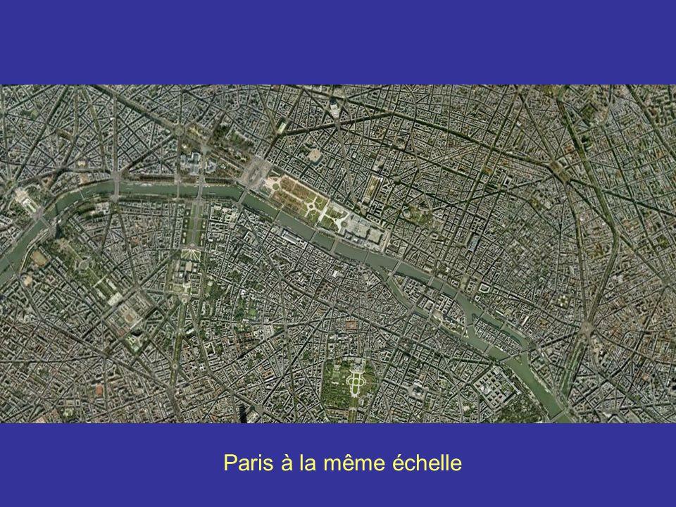 StrasbourgParis à la même échelle