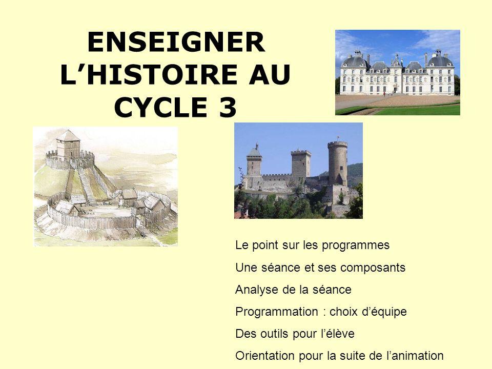 Un point sur les programmes 2008… Lhistoire intègre la « culture humaniste ».