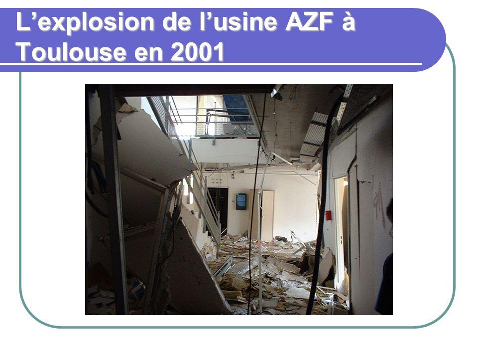 Lexplosion de lusine AZF à Toulouse en 2001