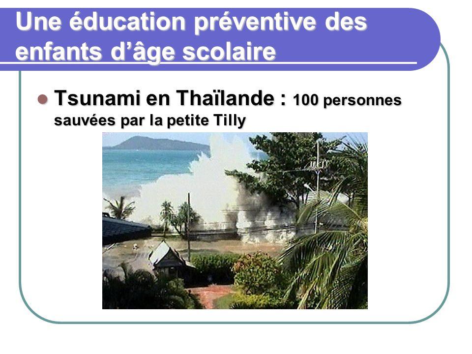Une éducation préventive des enfants dâge scolaire Tsunami en Thaïlande : 100 personnes sauvées par la petite Tilly Tsunami en Thaïlande : 100 personn