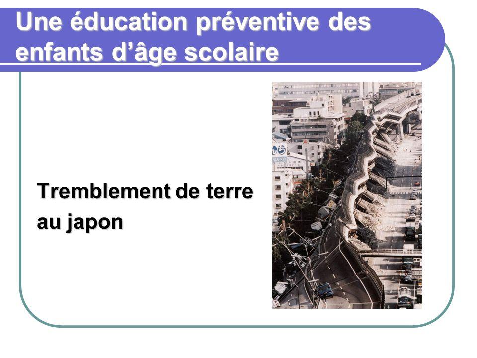 Une éducation préventive des enfants dâge scolaire Tremblement de terre au japon
