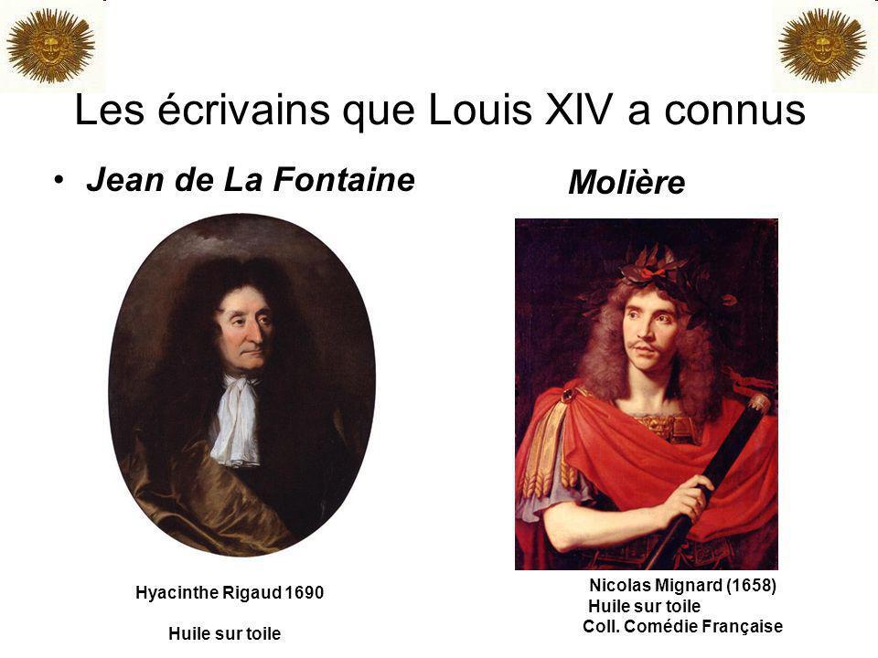 Les écrivains que Louis XIV a connus Jean de La Fontaine Molière Hyacinthe Rigaud 1690 Huile sur toile Nicolas Mignard (1658) Huile sur toile Coll. Co