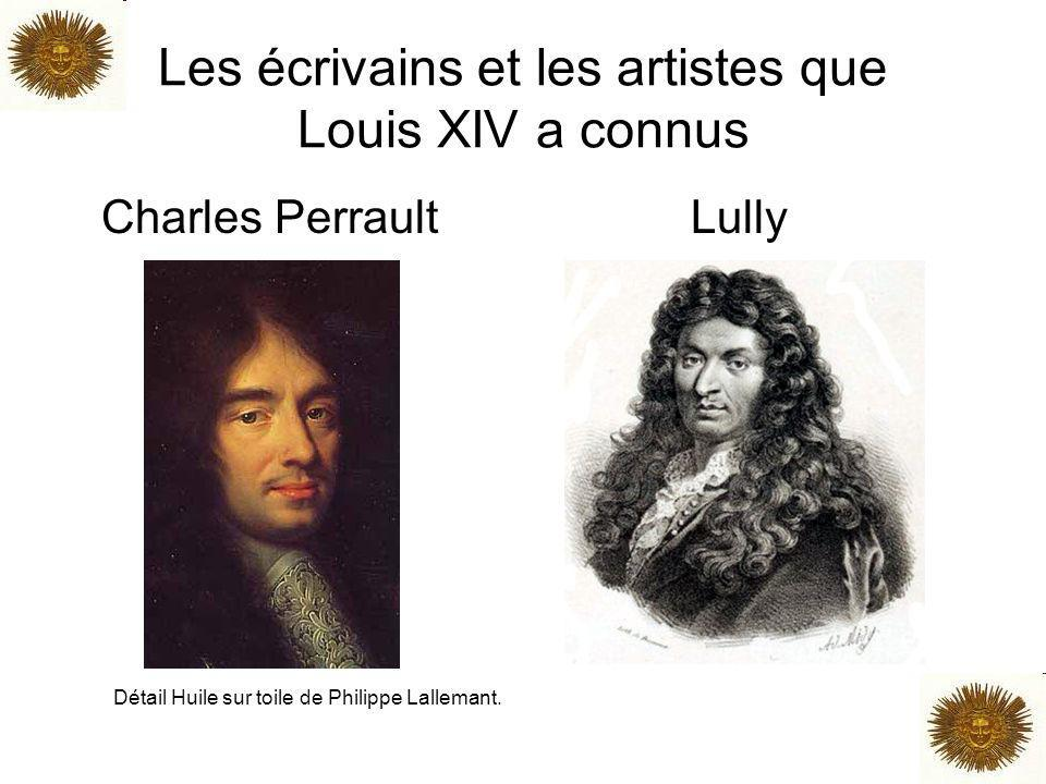 Les écrivains et les artistes que Louis XIV a connus Charles Perrault Lully Détail Huile sur toile de Philippe Lallemant.