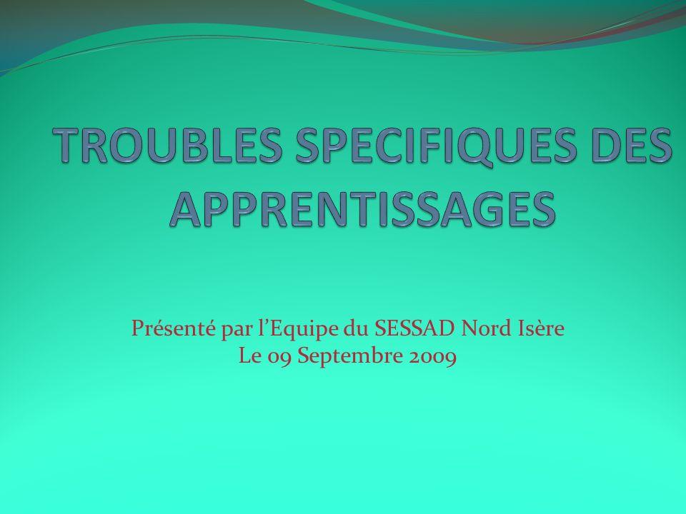 Présenté par lEquipe du SESSAD Nord Isère Le 09 Septembre 2009