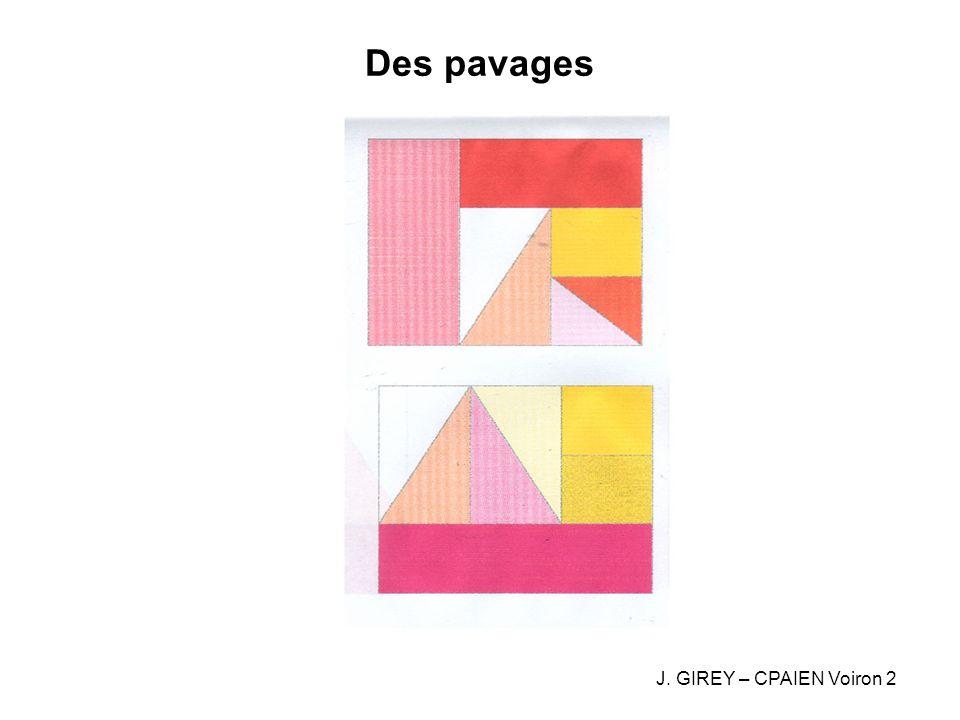 Pavages: Les chemins quadrillés Recouvrir un chemin avec des réglettes 1- Toutes les tailles des réglettes sont disponibles (de 1 à 5) 2- Les réglettes sont imposées J.