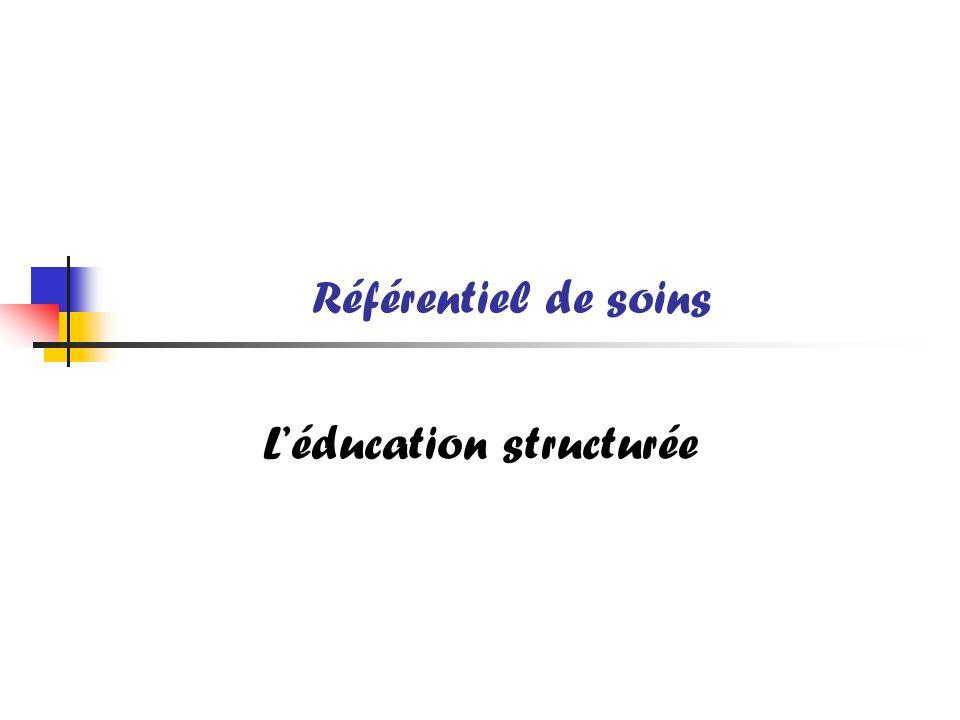 Référentiel de soins Léducation structurée