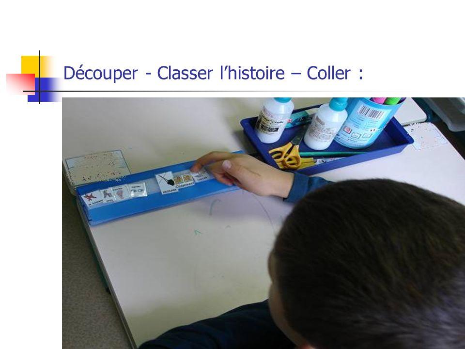 Découper - Classer lhistoire – Coller :