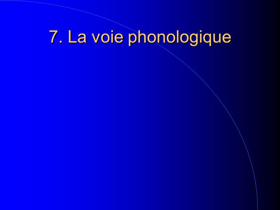 7. La voie phonologique