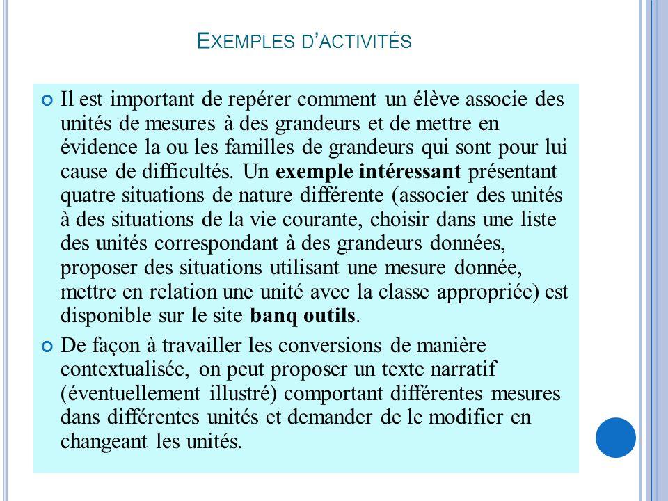 R ÉFÉRENCES (1)Documents dapplication des programmes : Mathématiques cycle 2, http://www.cndp.fr/archivage/valid/84987/84987-13527- 17130.pdf mathématiques cycle 3, http://www.cndp.fr/archivage/valid/37570/37570-6102- 5922.pdf (2)Documents daccompagnement, mathématiques école primaire, http://www.cndp.fr/archivage/valid/68718/68718-10580- 14939.pdf : partie VI II – mesure et grandeurs MC Demarconnay, CPC EPS Grenoble 5.