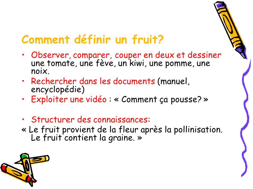 Comment définir un fruit.
