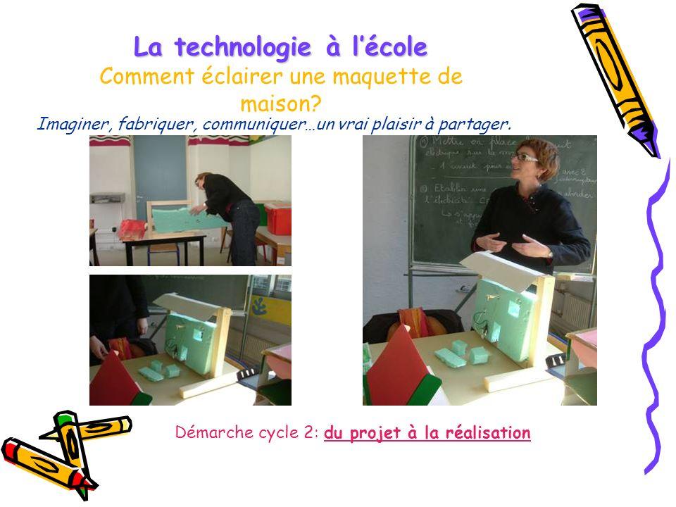 La technologie à lécole La technologie à lécole Comment éclairer une maquette de maison.