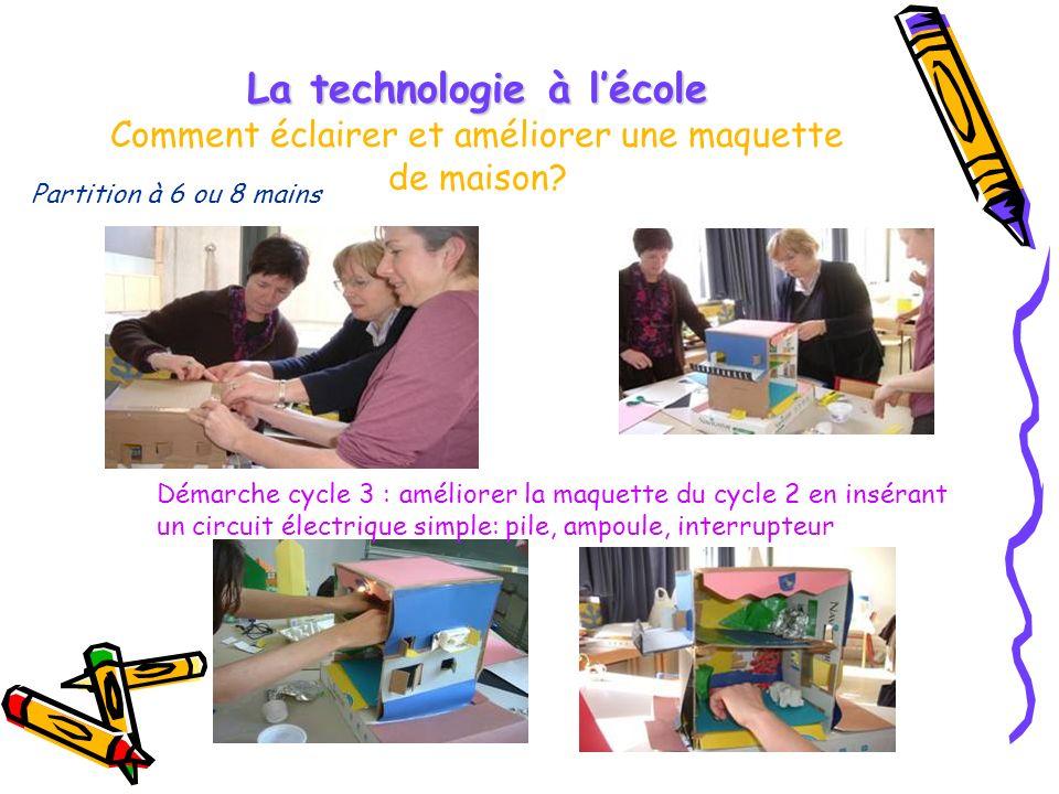 La technologie à lécole La technologie à lécole Comment éclairer et améliorer une maquette de maison.