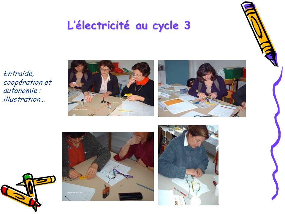 Entraide, coopération et autonomie : illustration… Lélectricité au cycle 3