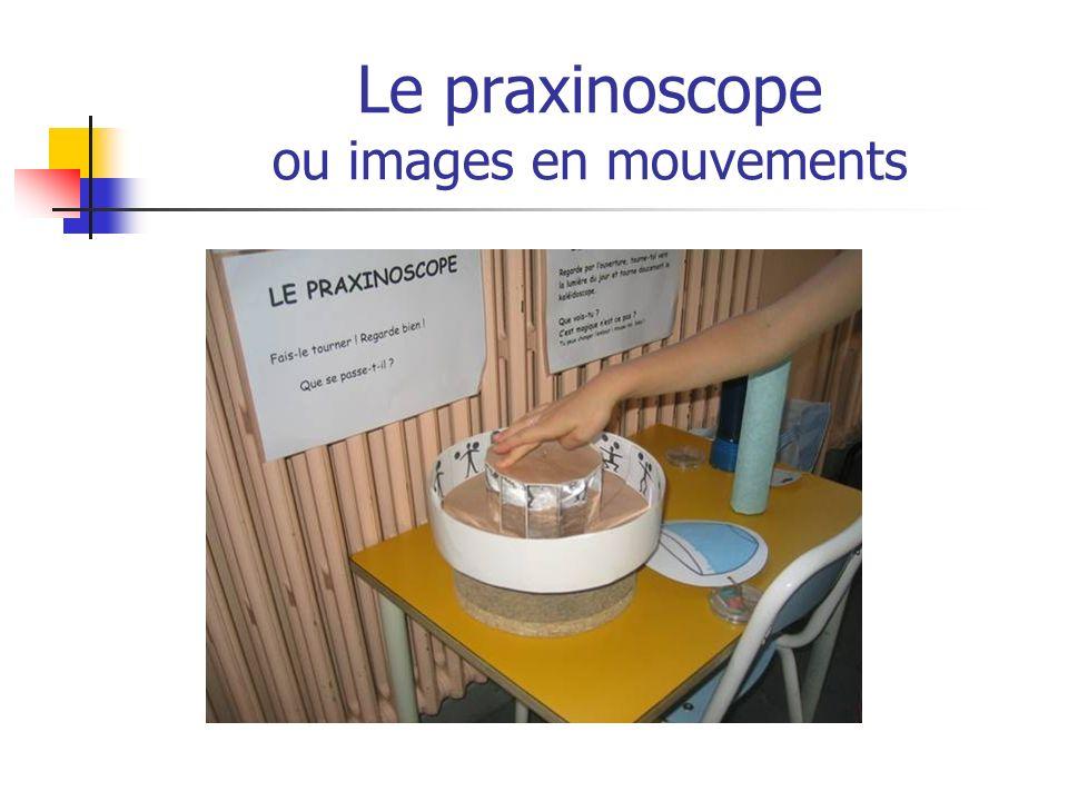 Le praxinoscope ou images en mouvements