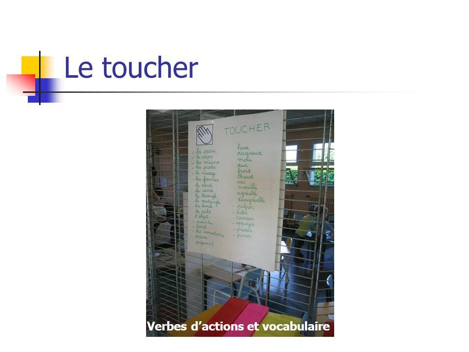 Le toucher Verbes dactions et vocabulaire