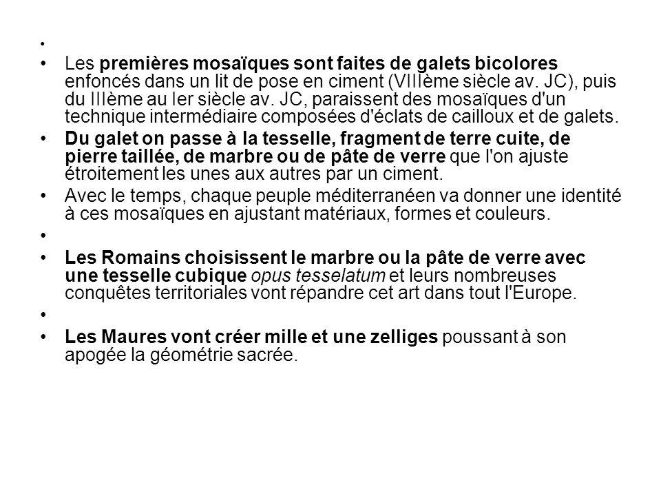 LArt de la Mosaïque : http://www.canal-educatif.fr/011Mosaique.htm Mosaïque de galets.