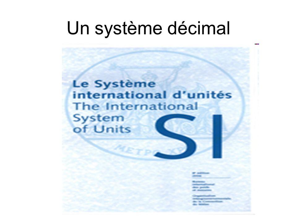 Un système décimal