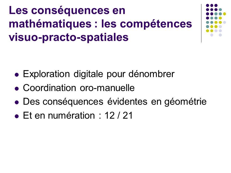 Syntaxe et lexique La « langue » orale / La langue « numérique » Les conséquences en mathématiques : le langage
