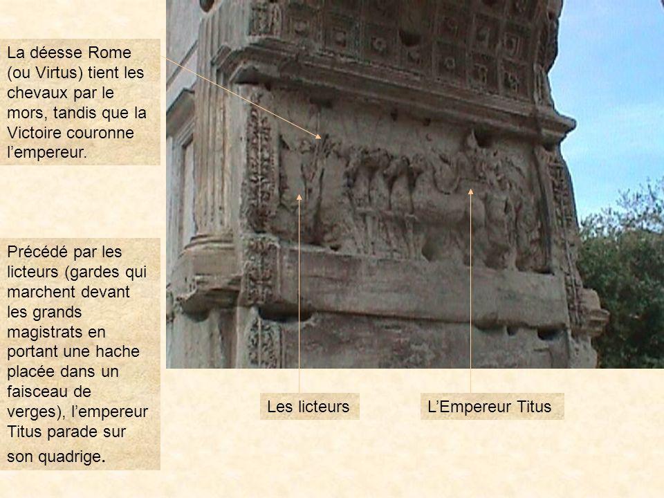 arctitu3 LARC DE TITUS Titus séprit de Bérénice, une princesse juive de 20 ans son aînée, mais ne put lépouser. Racine en a écrit une tragédie : Bérén