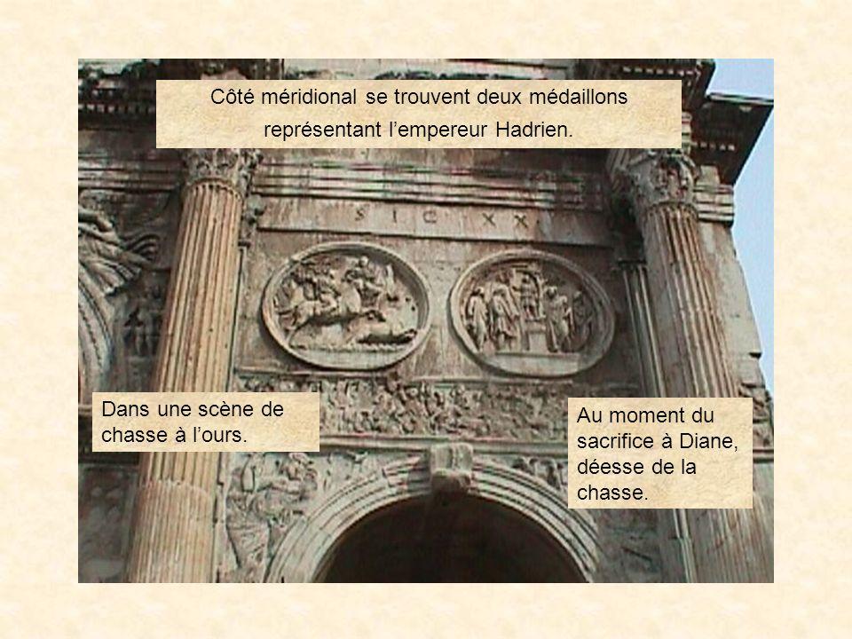 arconstan6 LArc de constantin L'arc de Constantin est composé en partie de sculptures et de décorations provenant de différents monuments. PrÉcÉdent L