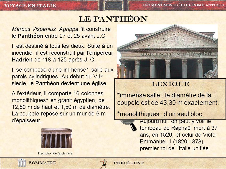 photo81 M(arcus) AGRIPPA L(ucii) F(ilius) CO(n)S(ul) TERTIUM FECIT Marcus Agrippa, fils de Lucius, consul pour la troisième fois, fit cela.
