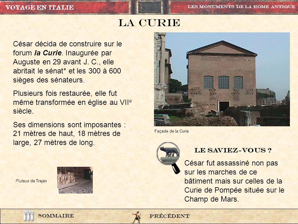 Le Temple de vesta lexi9 PrÉcÉdent Les Monuments de la rome Antique SOMMAIRE Vue extérieure VOYAGE EN ITALIE Vue intérieure Les Vestales étaient charg