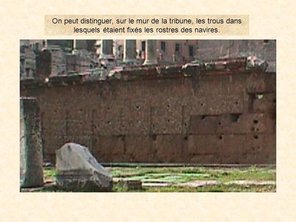 rostre13 Les rostres PrÉcÉdent Les Monuments de la rome Antique SOMMAIRE Un peu plus près… Les Rostres depuis la via Sacra VOYAGE EN ITALIE Les rostre