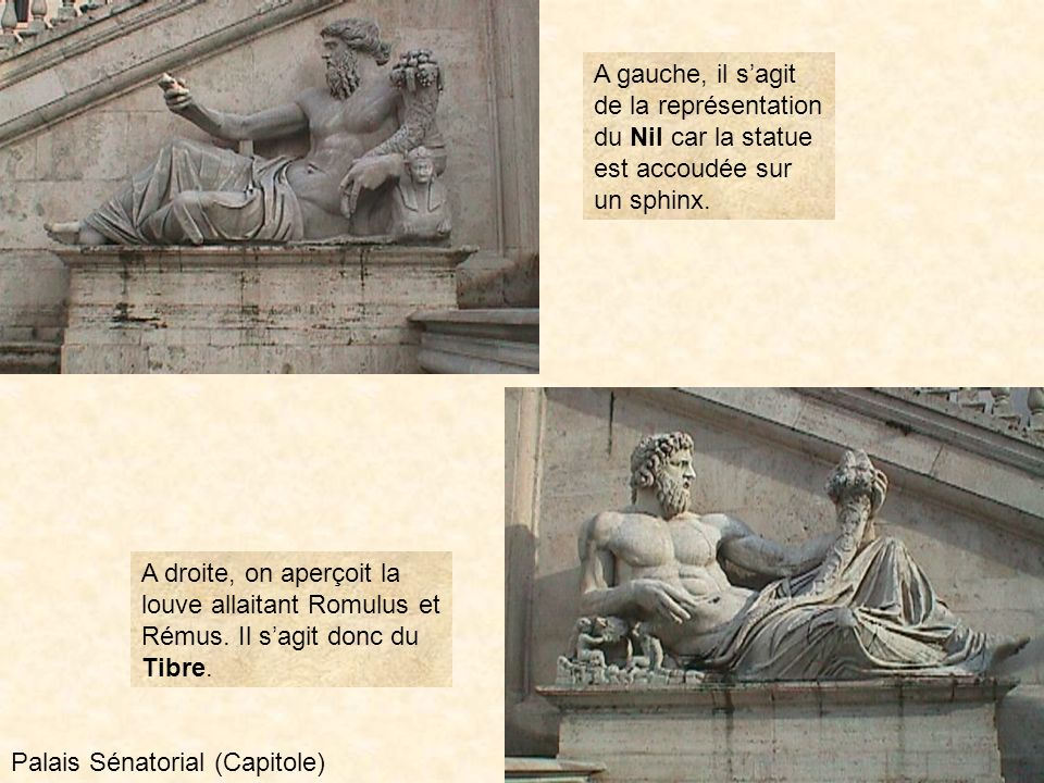 photo211 Dans la niche de la façade se trouve la statue de Minerve représentant la déesse Rome. Palais Sénatorial (Capitole)