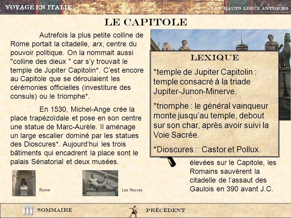 photo212 A gauche, il sagit de la représentation du Nil car la statue est accoudée sur un sphinx. A droite, on aperçoit la louve allaitant Romulus et