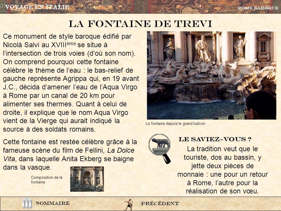 lexi33 La Piazza navona Les fontaines étaient souvent un sujet de décoration des amphores. PrÉcÉdent ROME BAROQUE SOMMAIRE Pour en savoir plus sur la