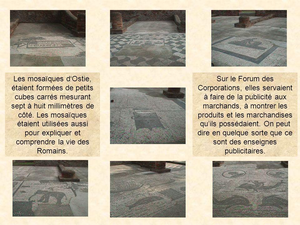 forumcor41 Le Forum des corporations Le seul en son genre, cet ensemble est connu pour ses splendides mosaïques, noir et blanc, du II ème siècle, repr