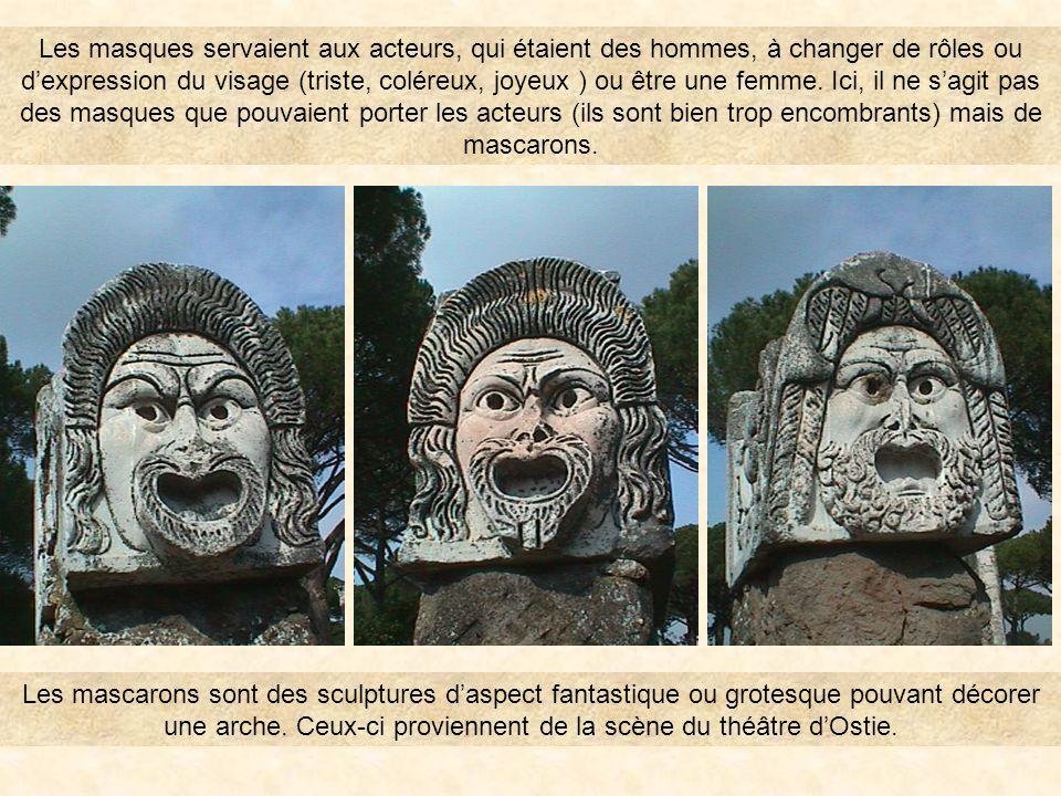 theatre43 Le thÉÂtre Le mot latin Persona signifie masque. Puis il a pris le sens dindividu, de personne. PrÉcÉdent OSTIA ANTICA SOMMAIRE Les mascaron