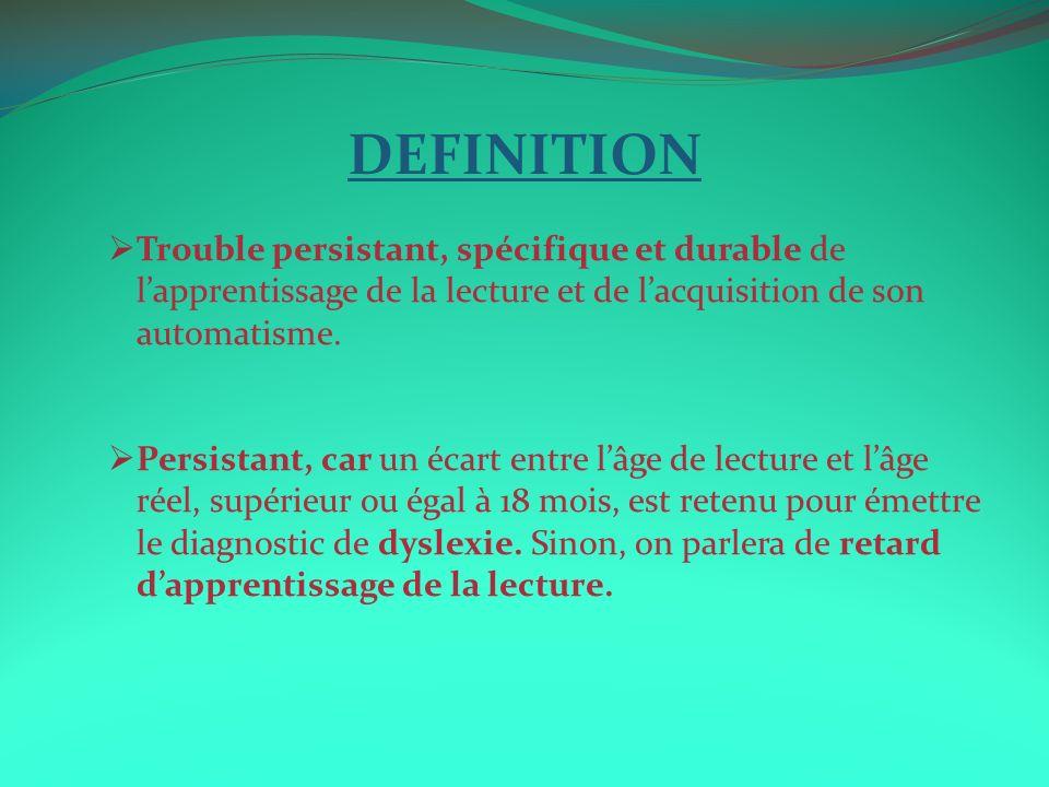 6.CONCLUSION Tout enfant qui présente des difficultés dapprentissage de la lecture nest pas nécessairement Dyslexique.