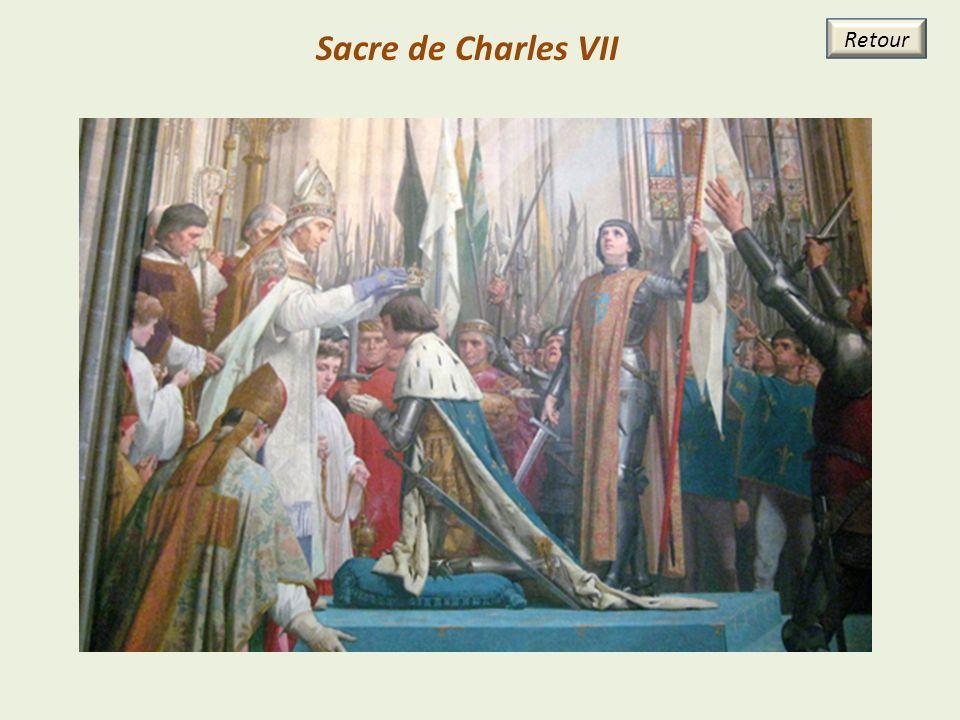 Sacre de Charles VII Retour