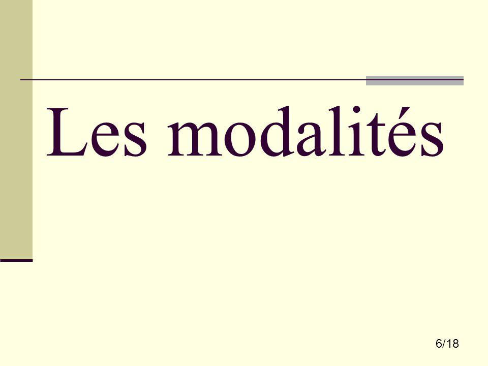 6/18 Les modalités