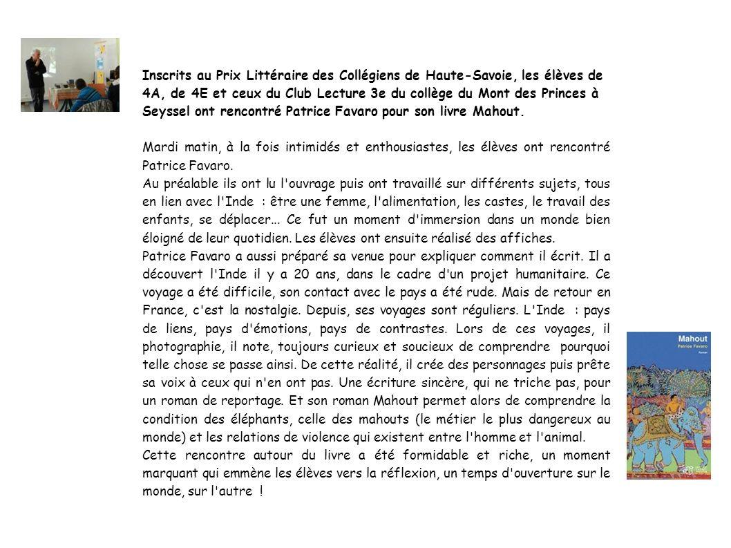 Inscrits au Prix Littéraire des Collégiens de Haute-Savoie, les élèves de 4A, de 4E et ceux du Club Lecture 3e du collège du Mont des Princes à Seysse