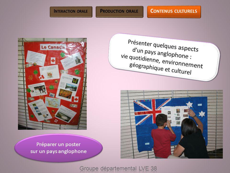 Préparer un poster sur un pays anglophone Préparer un poster sur un pays anglophone
