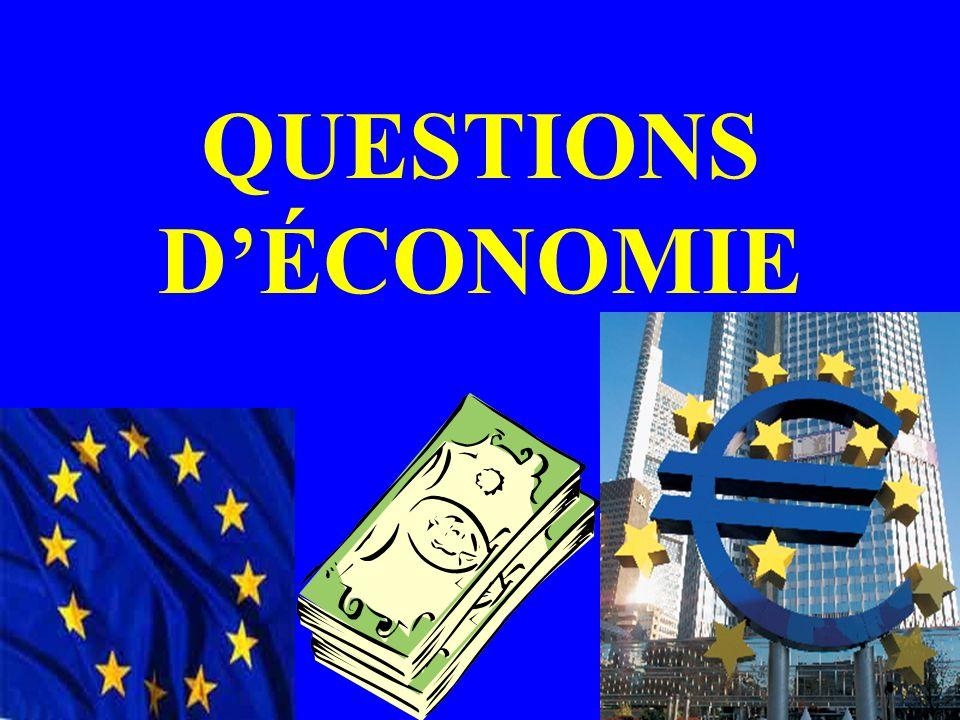 QUESTIONS DÉCONOMIE