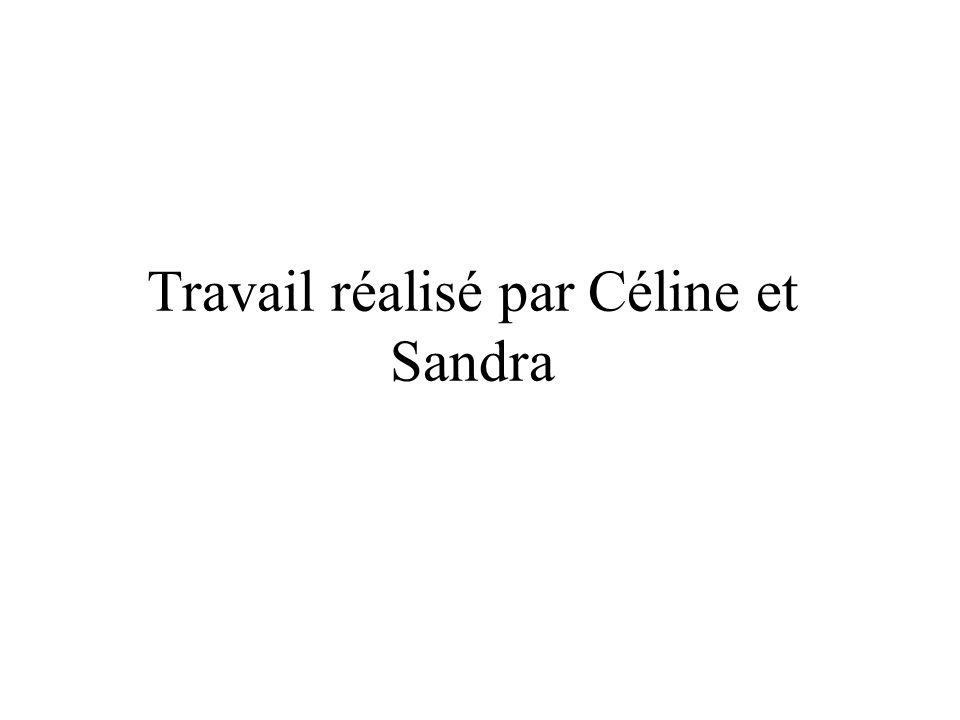 Travail réalisé par Céline et Sandra