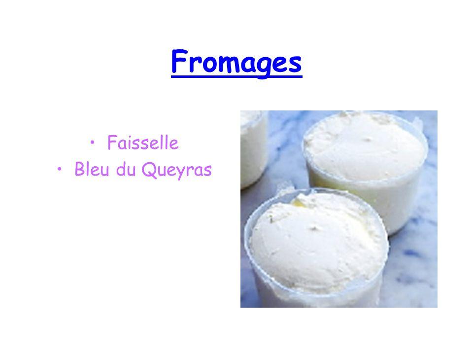 Fromages Faisselle Bleu du Queyras
